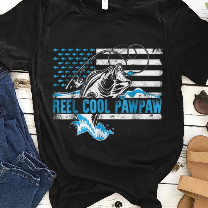 Premium Reel Cool PawPaw American Flag Fishing Rod Shirt