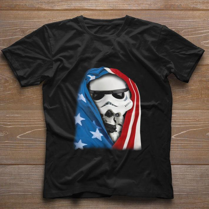 Premium Storm Trooper Star War wearing US flag shirt