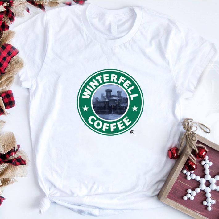 Top Game Of Thrones Winterfell Starbucks coffee shirt