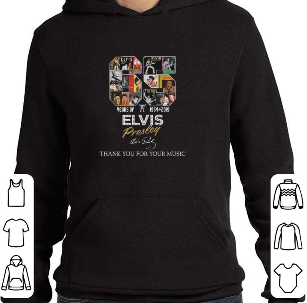 Awesome 65 years of Elvis Presley 1954-2019 signature shirt