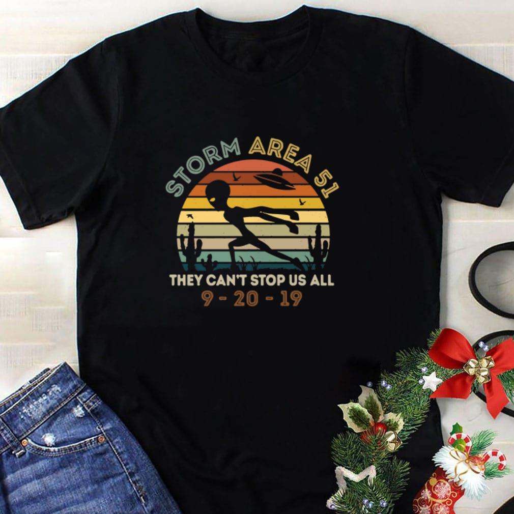 Awesome Alien Storm Area 51 they can't stop us all vintage shirt