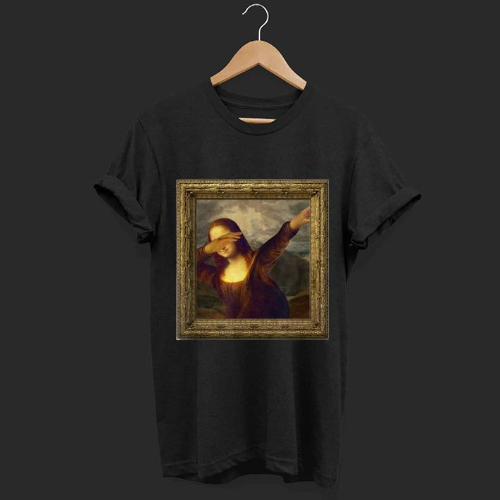 Awesome Dabbing Mona Lisa Painting shirt