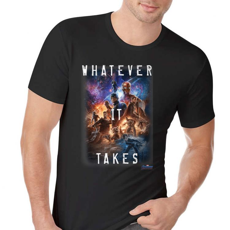 Awesome Universe Marvel Avengers Endgame Movie Poster Whatever It Takes shirt