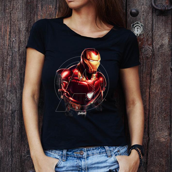 Hot Marvel Avengers Endgame Iron Man Portrait Graphic shirt