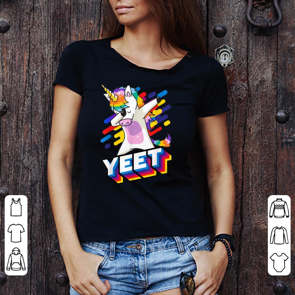 Official Celebration Yeet Colorful Dabbing Dancing Unicorn shirt