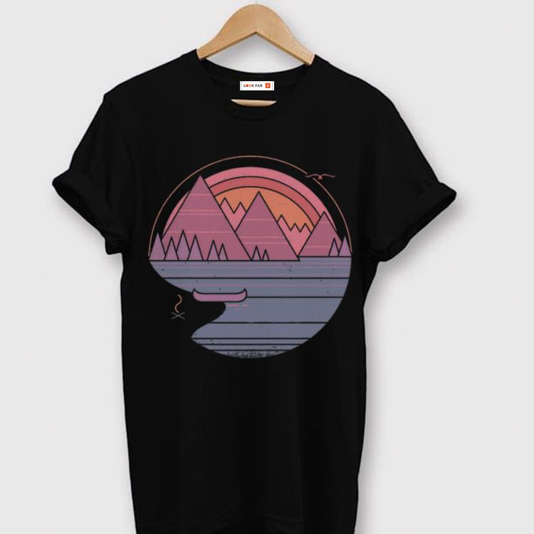 Official The Mountains Are Calling Summer Camping Sunset shirt