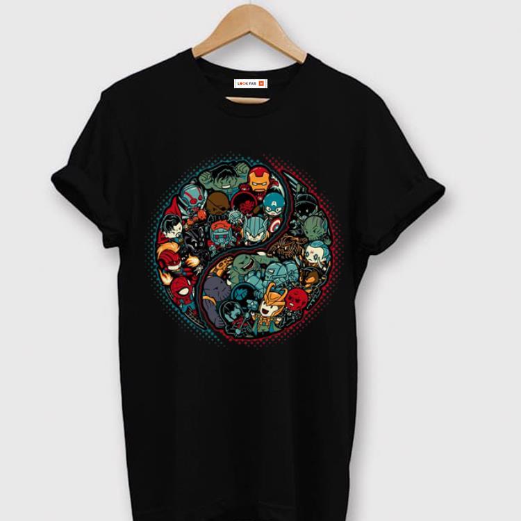 Original Marvelous Yin Yang Marvel Supperhero And Marvel Villain shirt