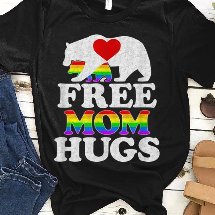 Premium Free Mom Hugs Women LGBT Pride Mama Bear shirt