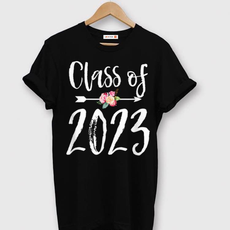 Pretty Class Of 2023 Arrow Flowers For Girls Women shirt