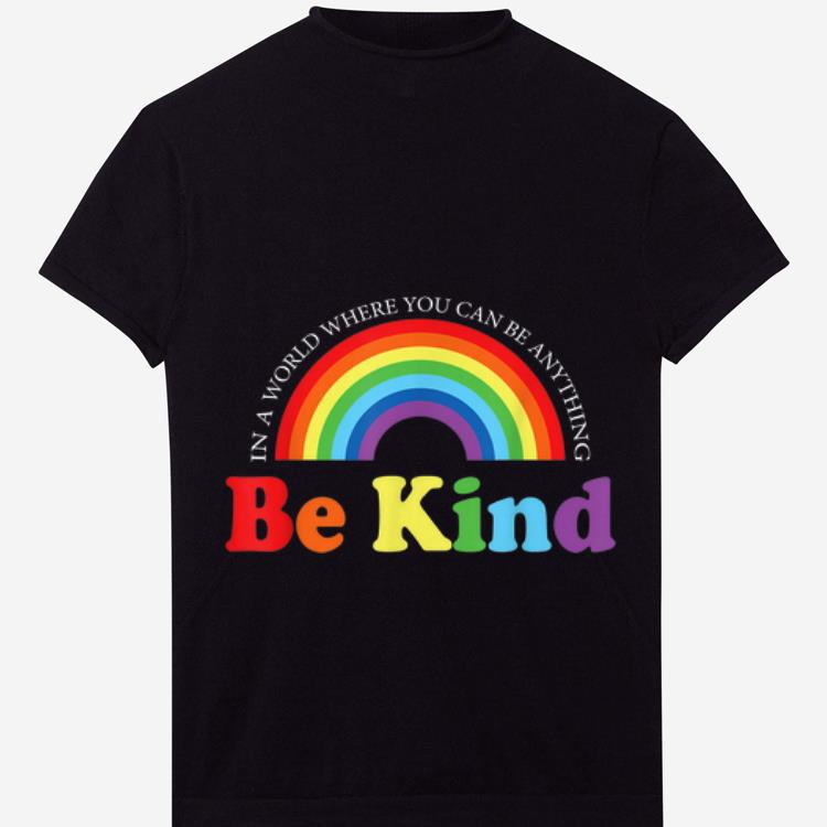 Top Be Kind Gay Les Pride Rainbow LGBT World Pride shirt
