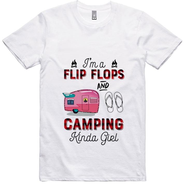 Top I'm a flip flop and camping Kinda girl shirt