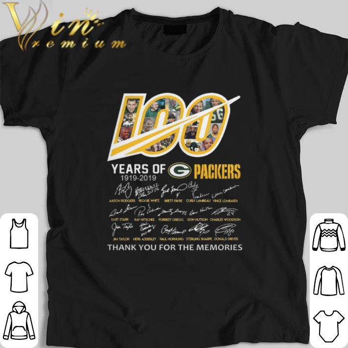 Awesome 100 Years Of Green Bay Packers 1919 2019 Signatures Shirt 1 1.jpg