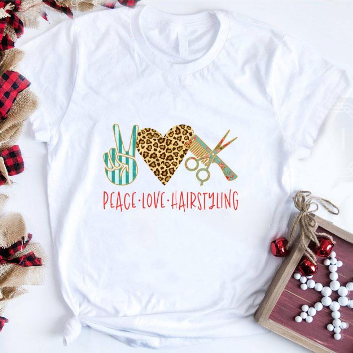 Awesome Sign Language Peace Love Hairstyling shirt