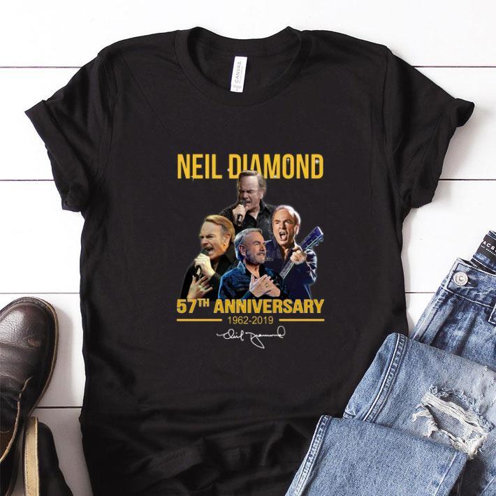 Funny Neil Diamond 57th anniversary 1962-2019 signature shirt