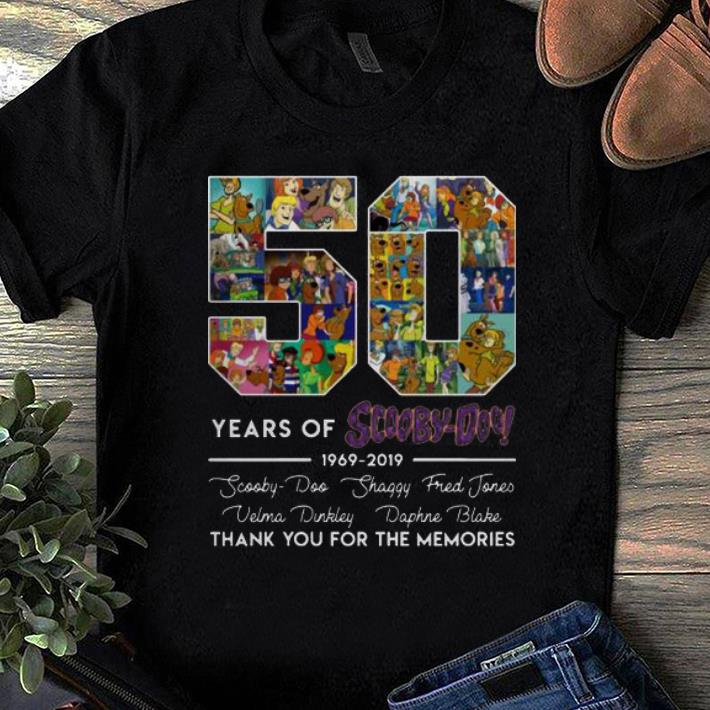 Hot 50 Years of 1969-2019 Scooby Doo Signature Thank You For Memories shirt