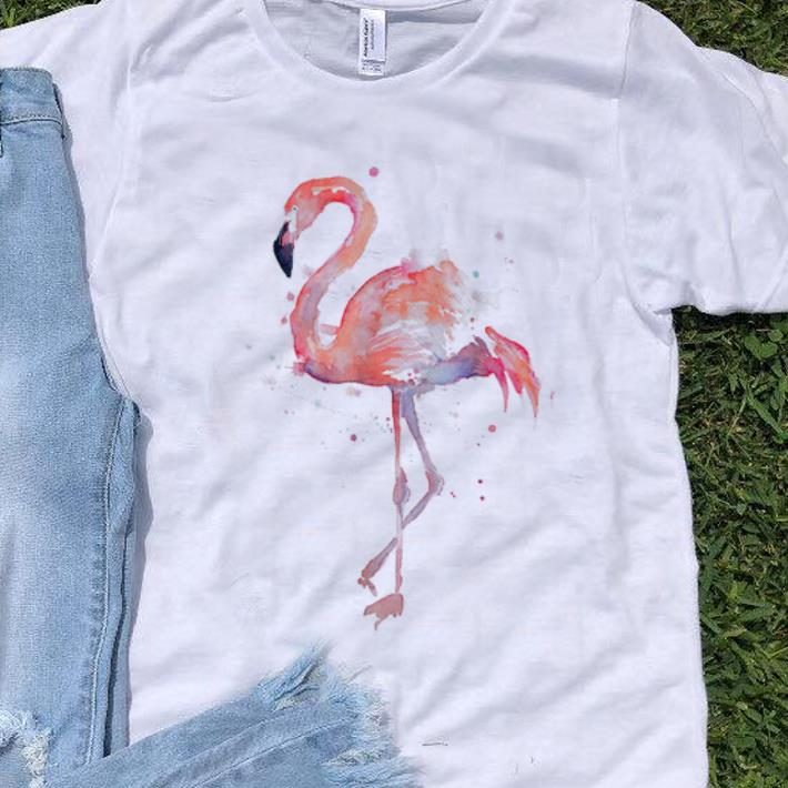 Hot Pink Flamingo Watercolor shirt