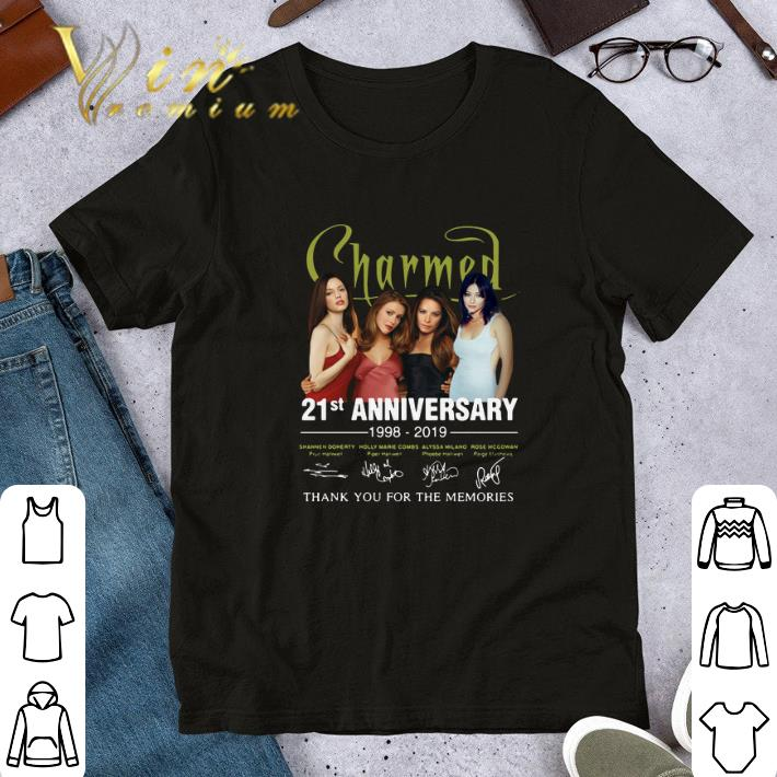 Nice 21st Anniversary Charmed 1998-2019 Thank You For The Memories shirt