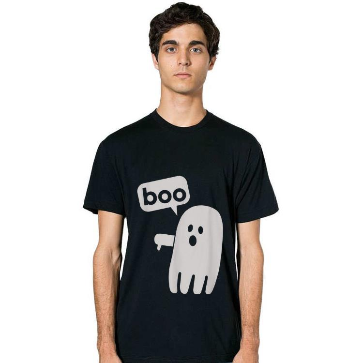 Nice Boo Ghost With Thumbs Down Funny Halloween shirt