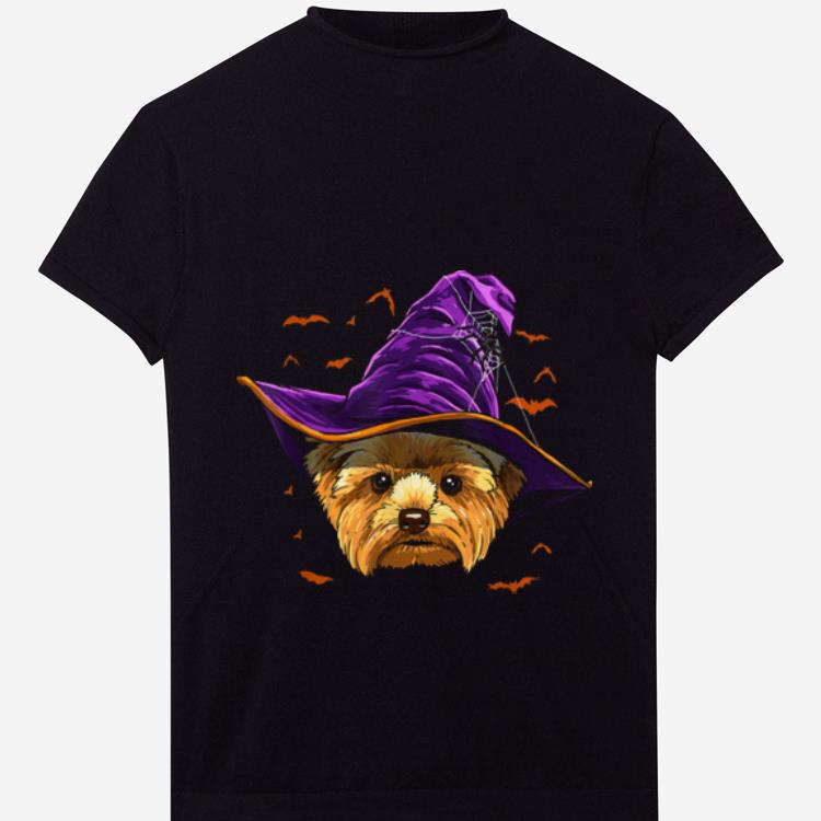Nice Yorkshire Terrier Witch Funny Halloween Gifts Dog Lover shirt