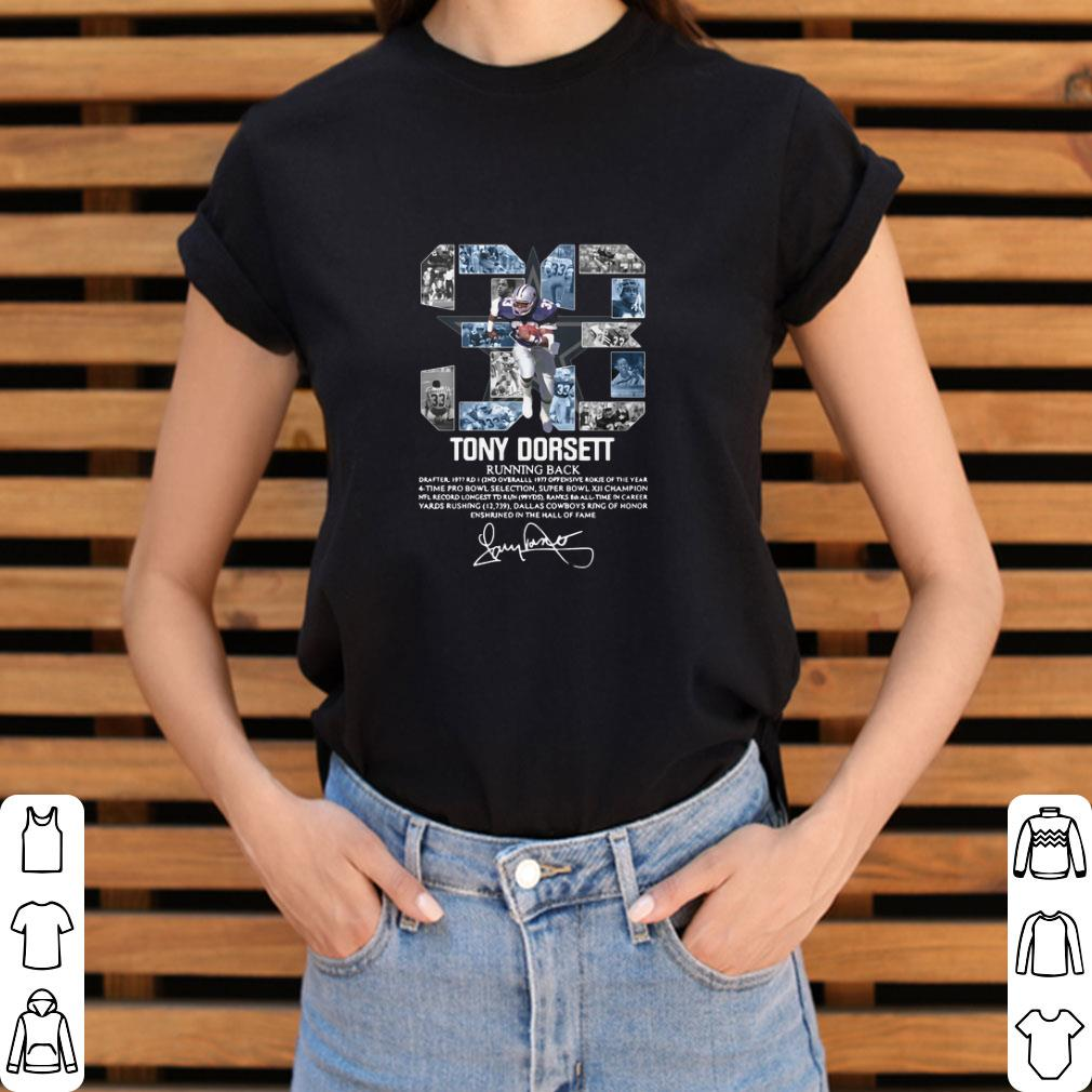 Original 33 Tony Dorsett Running back signature shirt
