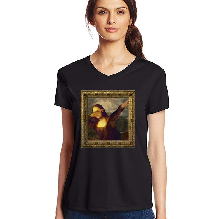 Original Dabbing Mona Lisa Painting shirt