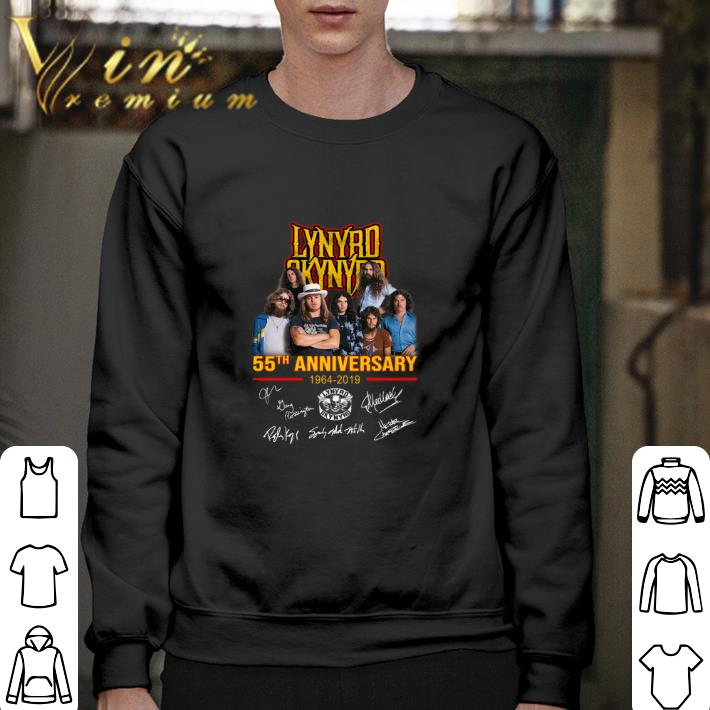 Premium Lynyrd Skynyrd 55th anniversary 1964-2019 signatures shirt