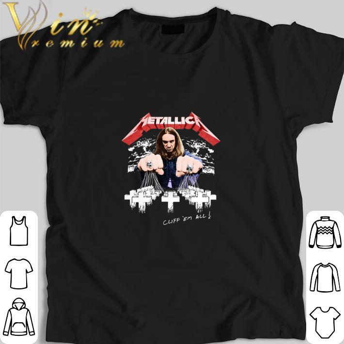 Premium Metallica Cliff Burton Cliff em all shirt