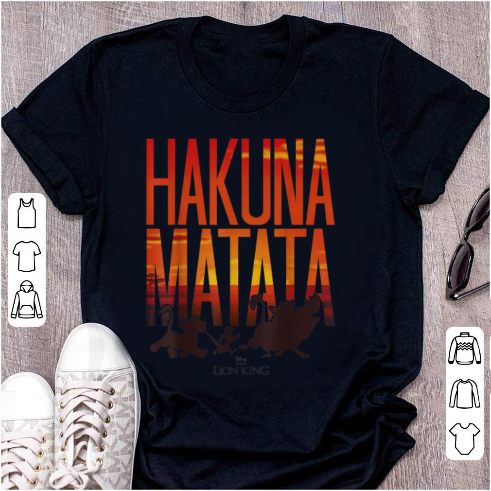 Pretty Disney Lion King Hakuna Matata Sunset shirt