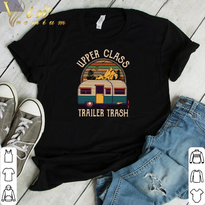 Top Camping Upper class trailer trash vintage sunset shirt