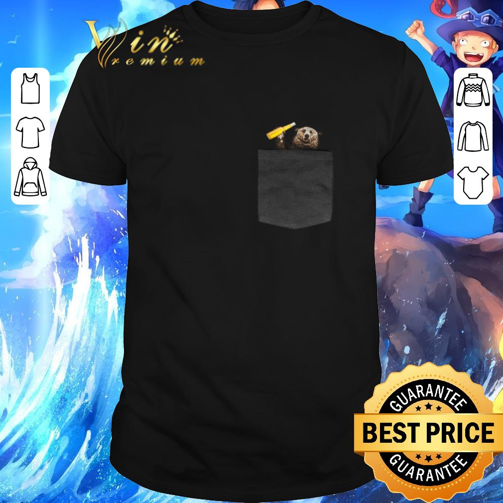 Top Camping bear in pocket shirt