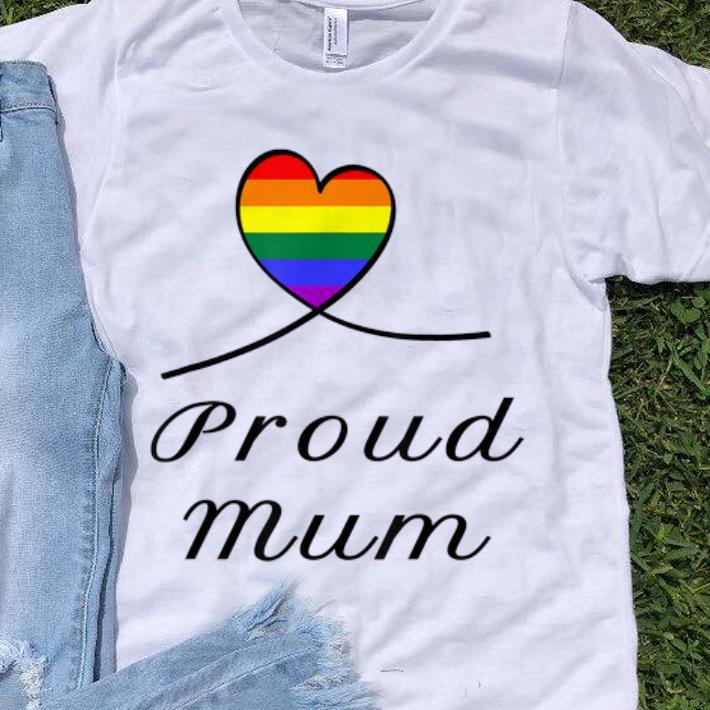 Top Proud Mum LGBT Gay Pride Month Rainbow Heart Flag shirt