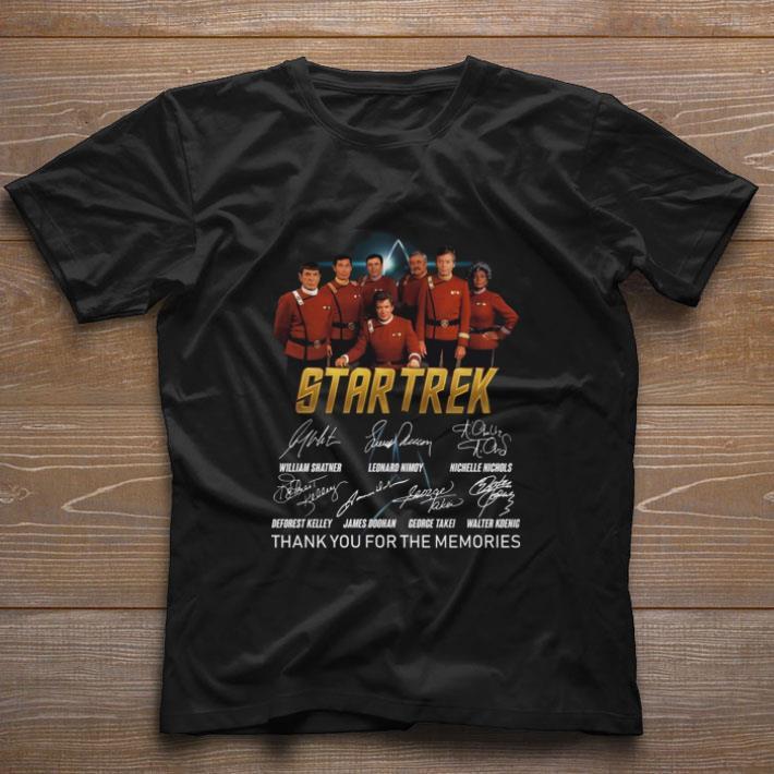 Top Star Trek signatures thank you for the memories shirt