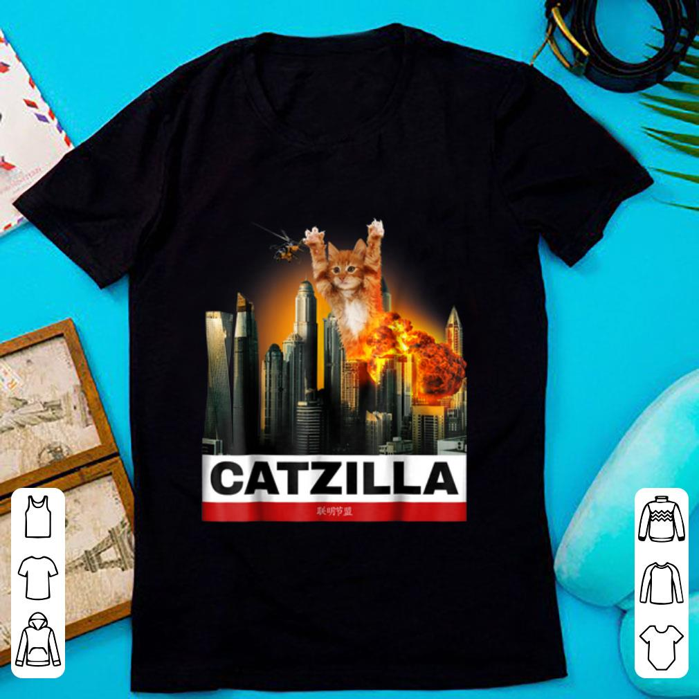 Awesome Catzilla Funny Kitty For Cat Lovers To Halloween Shirt 1 1.jpg