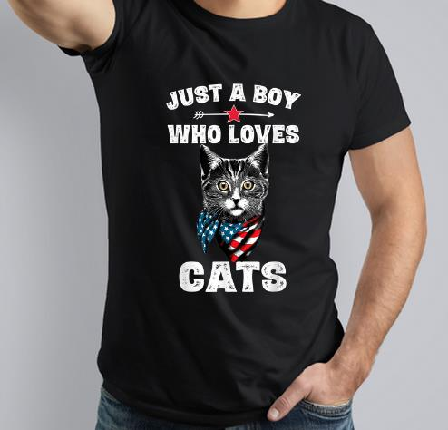 Awesome Just A Boy Who Love Cats Shirt 3 1.jpg