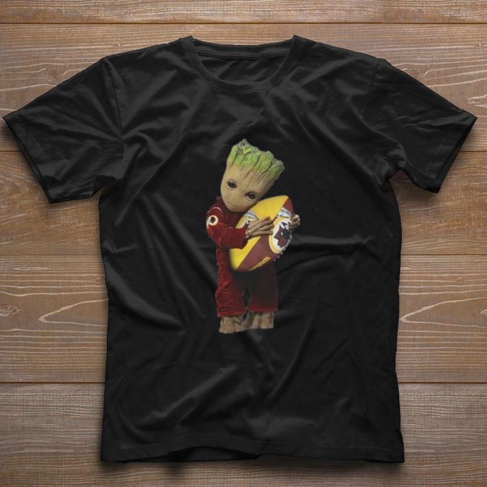 Funny Baby Groot hug Washington Redskins NFL ball shirt