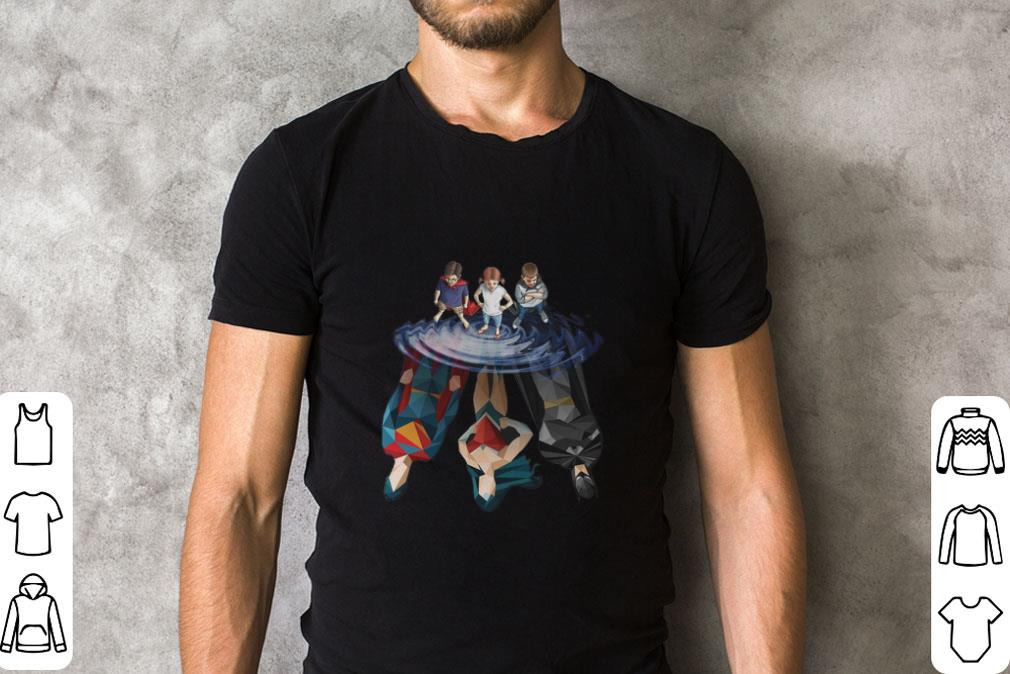 Funny DC Characters reflection mirror water shirt