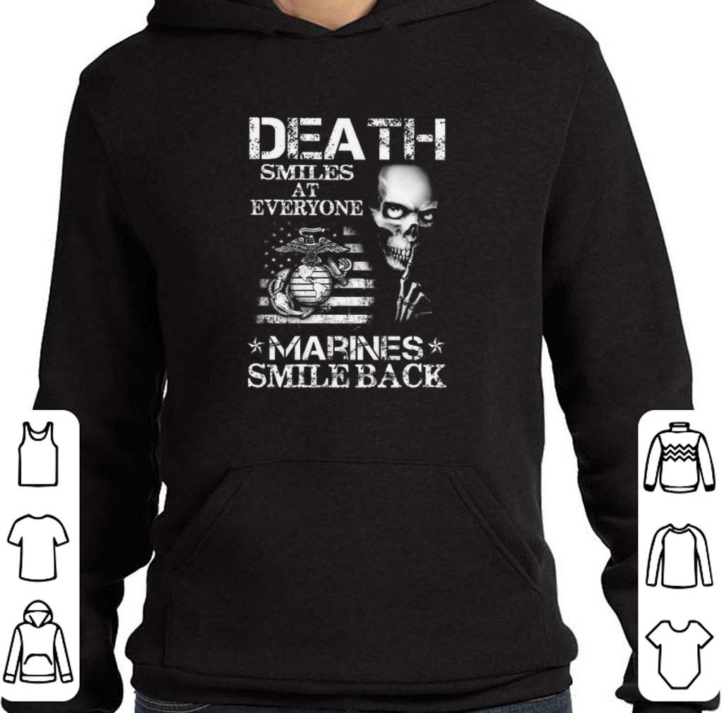 Funny Death smiles at everyone Marines smile back shirt