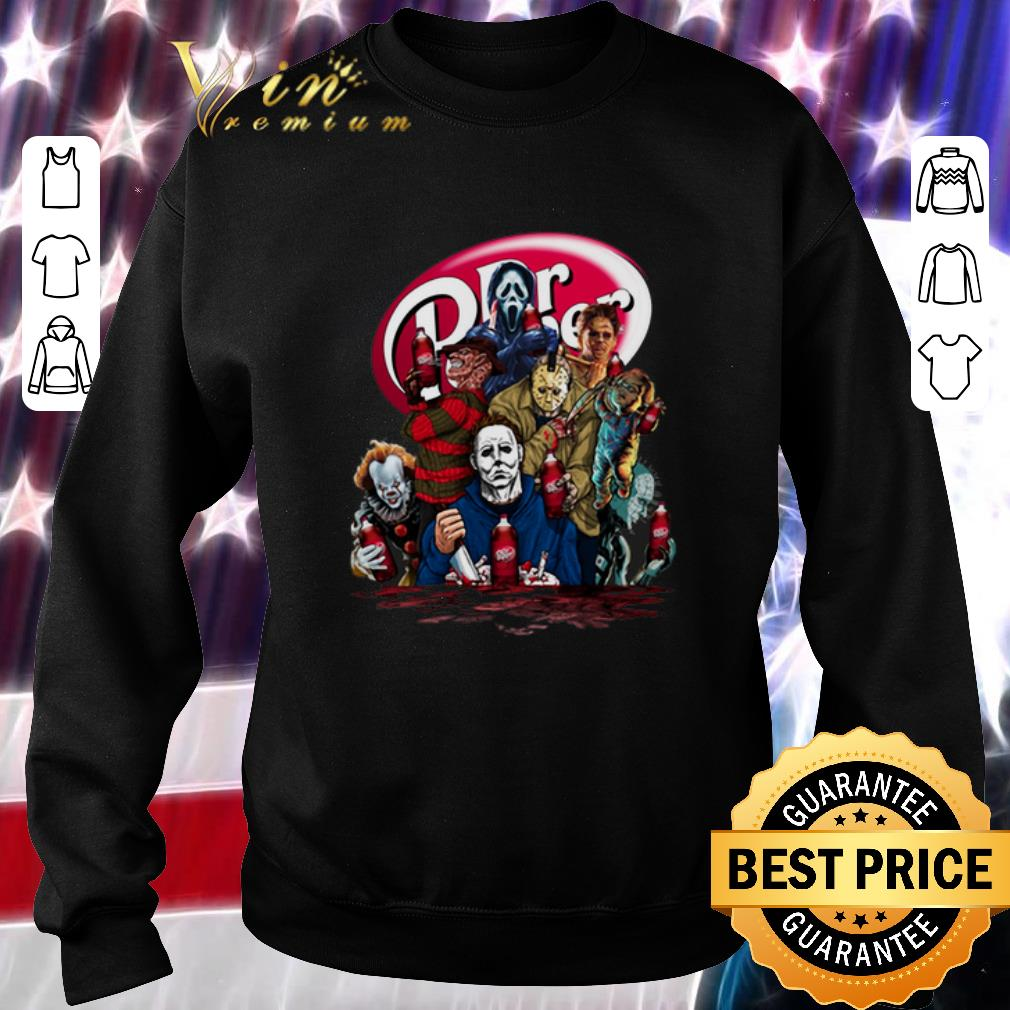 Funny Dr. Pepper Horror movie characters shirt
