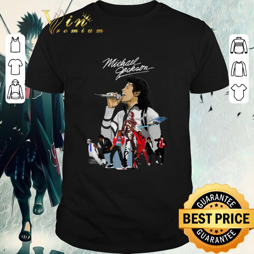 Funny Michael Jackson signature wallpaper shirt