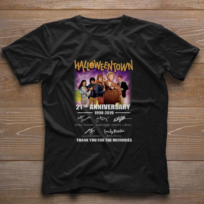 Hot Halloweentown 21th anniversary 1998-2019 signatures shirt
