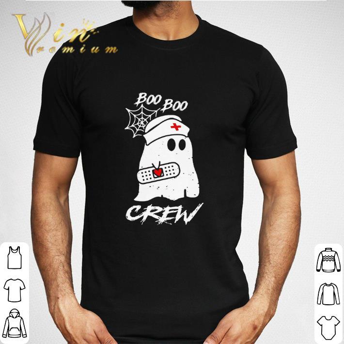 Nice Ghost nurse boo boo crew shirt