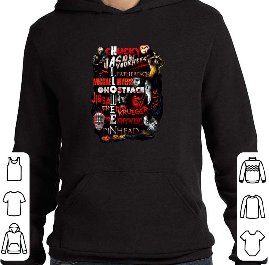 Official Chucky Jason Voorhees Leatherface Michael Myers Halloween shirt