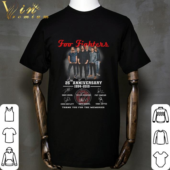 Official Foo Fighters 25th Anniversary 1994-2019 Signatures shirt