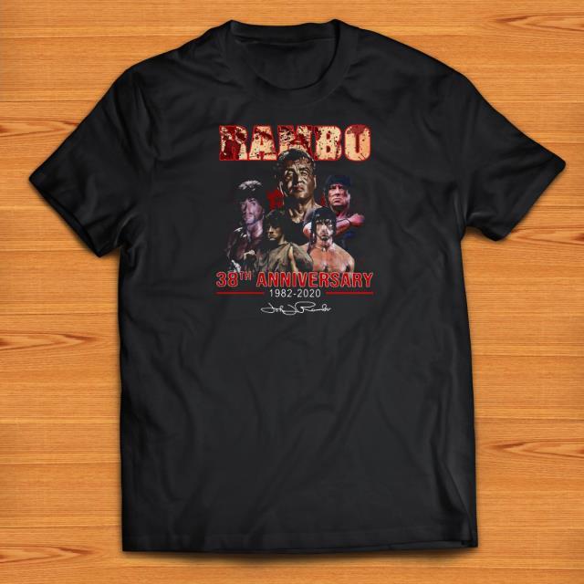 Official Rambo 38th Anniversary 1982-2020 Signature shirts