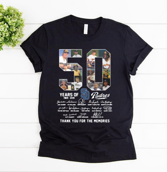 reputable site 2b47e 26877 Original San Diego Padres 50 Years 1969-2019 Signatures shirt