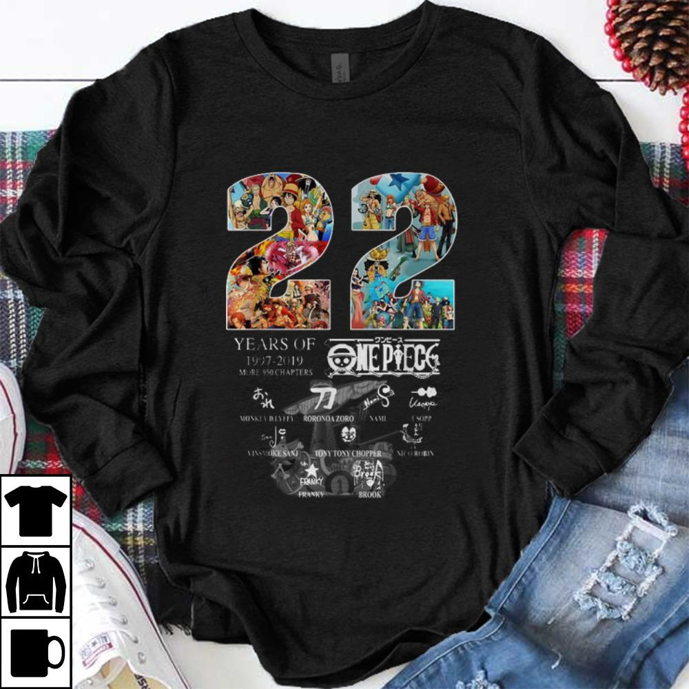 Premium 22 Years Of One Piece 1997-2019 More 950 Chapters Signature shirt