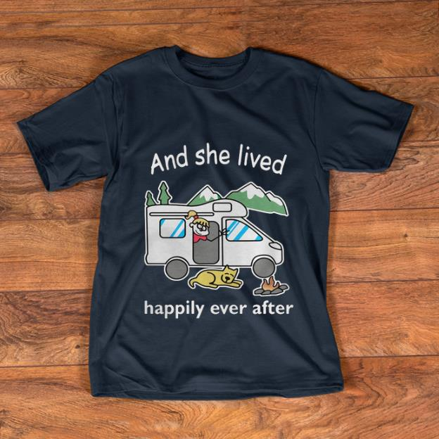 Premium And She Lived Happily Ever After Camping shirt