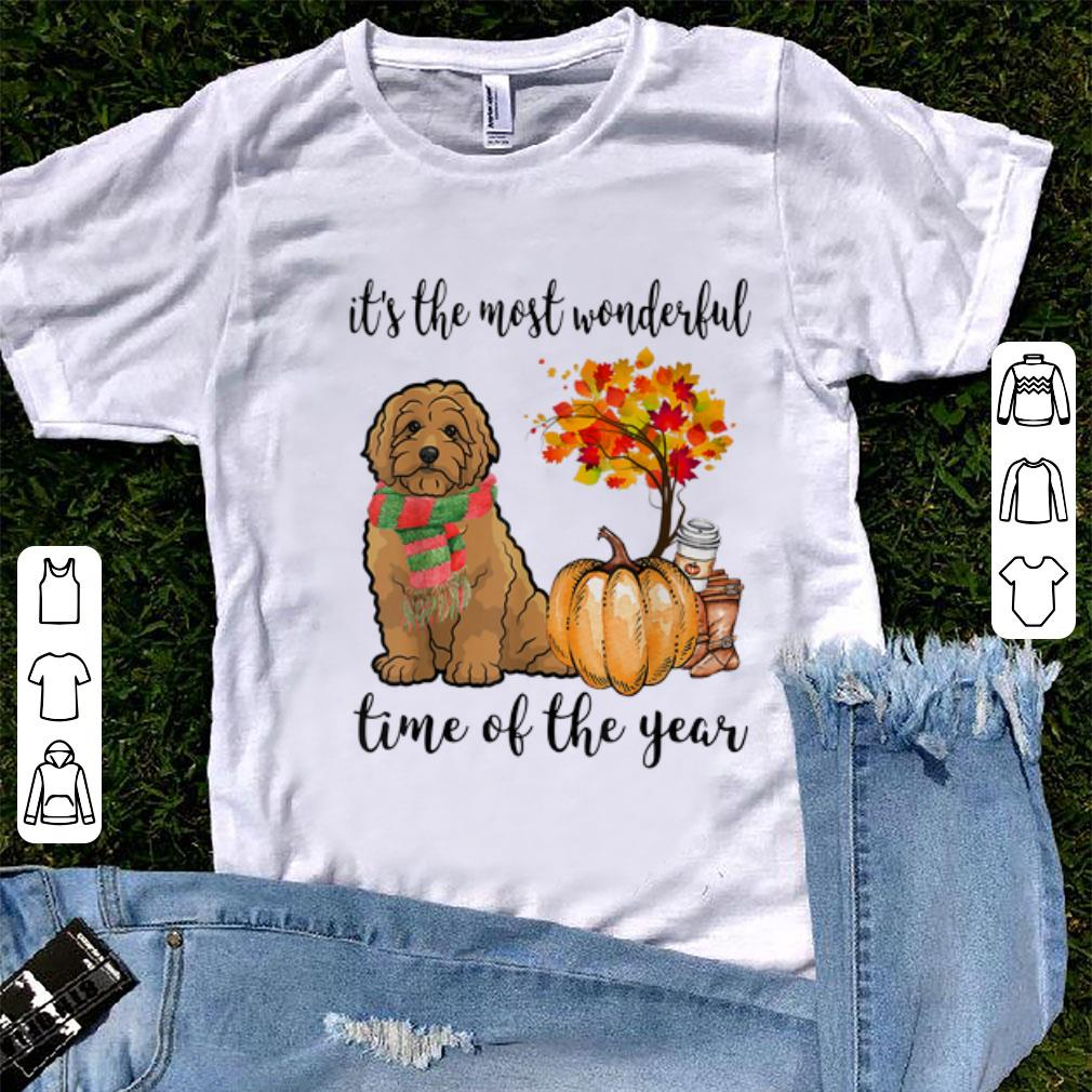 Top Goldendoodle Dog Autumn Fall It S The Most Wonderful Time Shirt 1 1.jpg