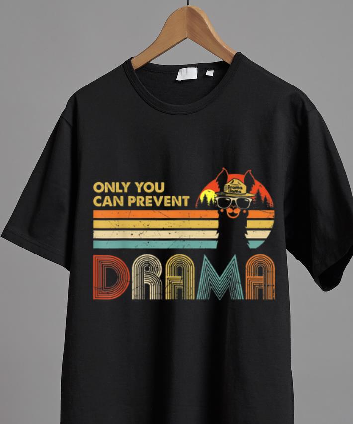 Top Only You Can Prevent Drama Vintage Drama Llama Shirt 2 1.jpg