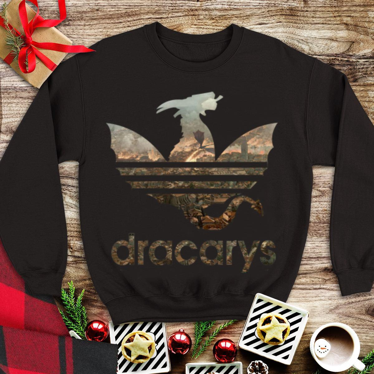 Awesome Adidas Dracarys Winterfell Game Of Thrones shirt